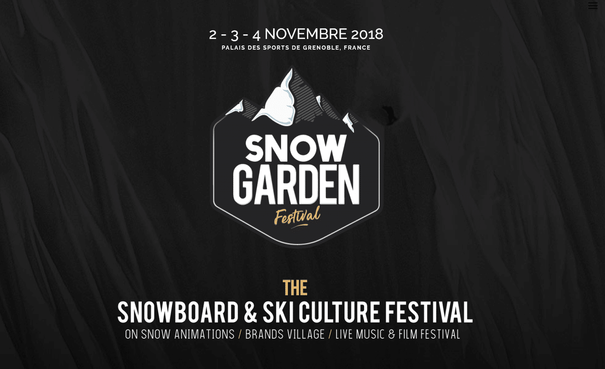 Snow Garden Festival 2018